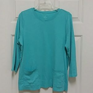 J. Jill Top Pima cotton two-pocket sz Large